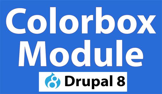 Installazione del modulo COLORBOX in Drupal 8