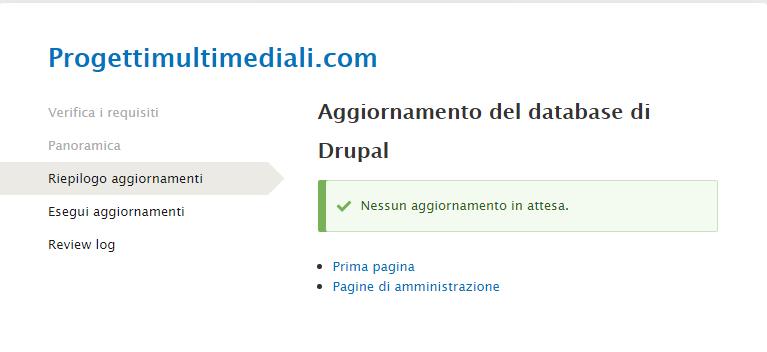 Come aggiornare Drupal 8