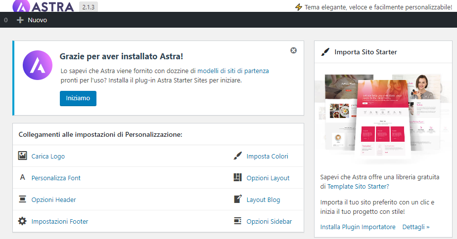 Wordpress tema astra